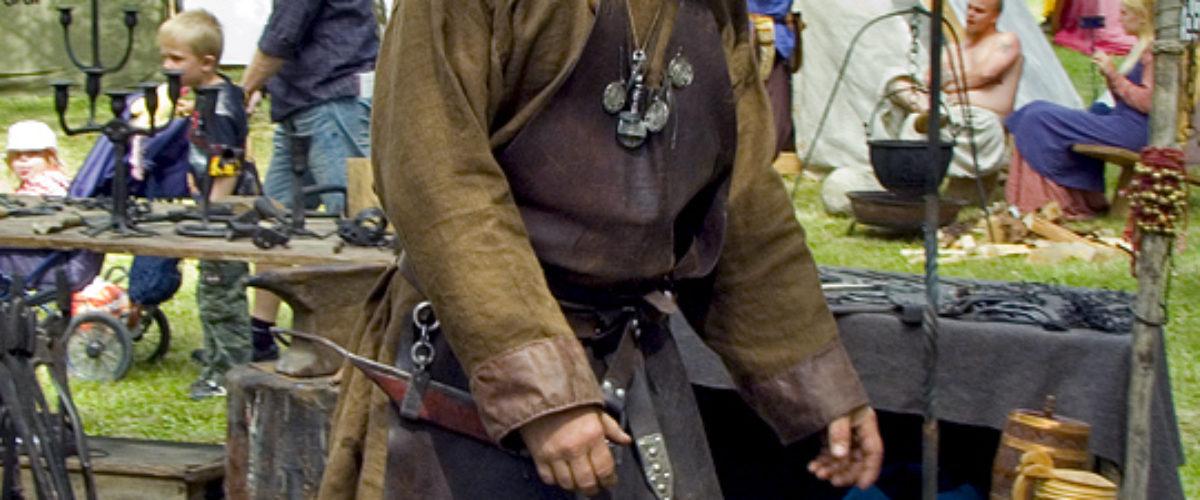Blacksmith at the Viking Festival