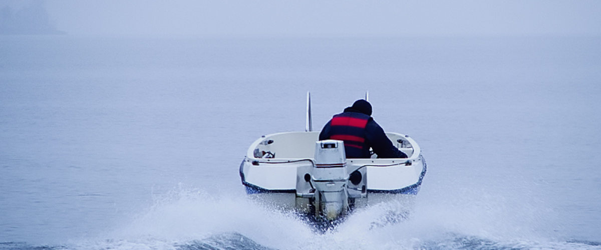 A misty morning... in my boat.