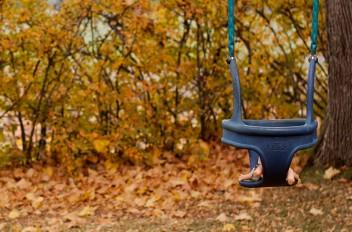 Doll in the swing