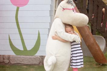 A Moomin hug