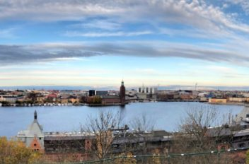 Stockholm seen from Skinnarviks mountain