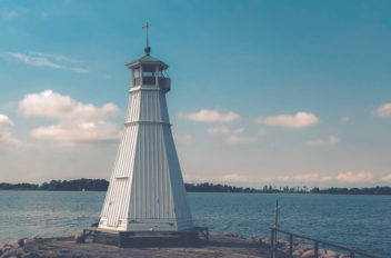 The lighthouse at Vadstena
